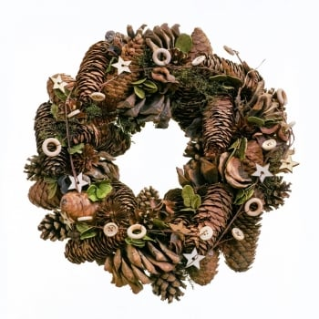 "12"" Acorn & Star Wreath"