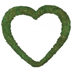 "15"" Padded Moss Effect Heart"
