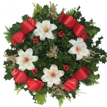 "23. Holly Wreath 10""/25cm"