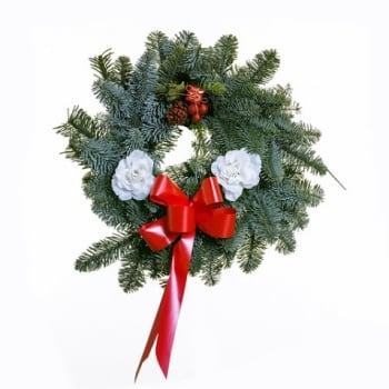 "37. Noble Fir Door Wreath 10""/25cm"