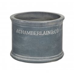 Chamberlain Antique Rustic Cylinder Planter