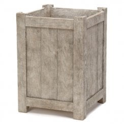 Courtyard Grey Tall Square Planter
