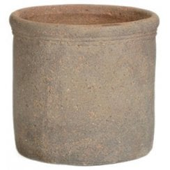 Old Stone Cylinder Planter