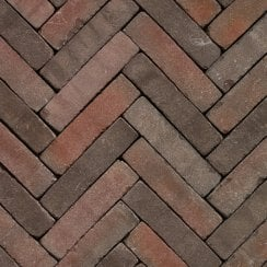 Clay Block Paving: Chestnut 200 x 50 x 65mm