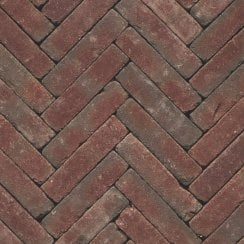 Clay Block Paving: Crimson 200 x 50 x 65mm