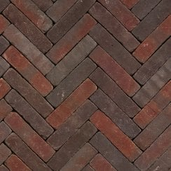Clay Block Paving: Mulberry 200 x 50 x 65mm