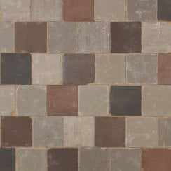 Dutch Square Clay Block Paving: Dutch Blend 150 x 150 x 69mm