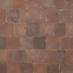 Dutch Square Clay Block Paving: Miller 150 x 150 x 67mm
