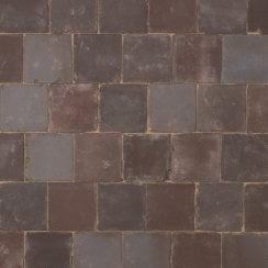 Dutch Square Clay Block Paving: Pecan 150 x 150 x 65mm