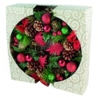 Boxed Red & Green Wreath