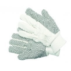Cotton Drill with PVC Dots Medium Gloves