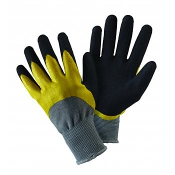 Briers Double Dip Black/Yellow Large Gloves