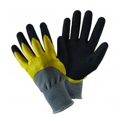 Double Dip Black/Yellow Large Gloves