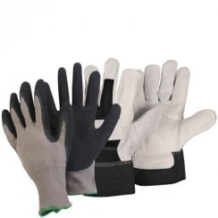 General Worker & Black Rigger Large Gloves
