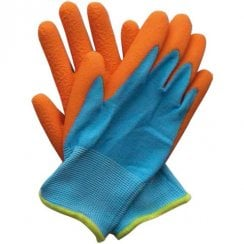 Briers Kids Junior Digger Orange & Blue 5-9 Yrs Gloves