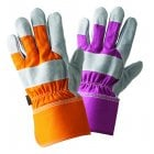Ladies Twin Pack Rigger Orange and Magenta Medium Gloves