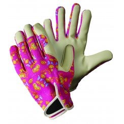Oriental Floral Lady Gardener Pink Medium Gloves