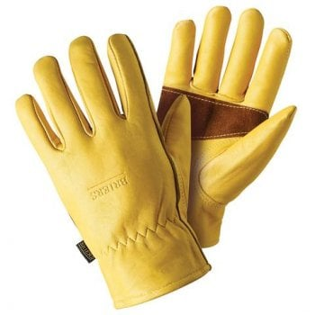 Briers Premium Golden Leather Gloves with Palm Protection