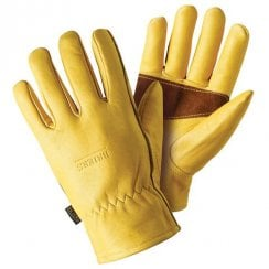 Premium Golden Leather Gloves with Palm Protection
