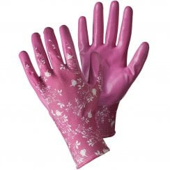 Seed & Weed Bird & Branches Magenta Medium Gloves