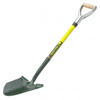 "Bulldog Powerlite General Service Shovel (Treaded) 28"" - Metal YD Handle with Ash Grip"