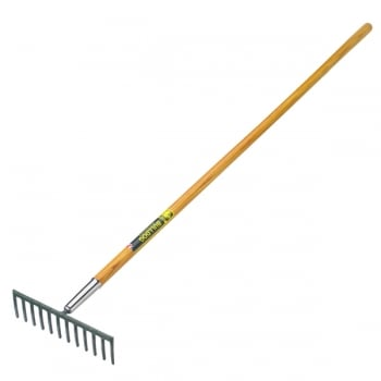 "Bulldog Premier 12 Tooth Garden Rake 60"" - Straight Ash Handle"