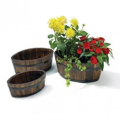 Burntwood Oval Trough (Set of 3)
