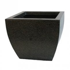 Black Tapered Square Low III Pot 42 x 42 x 36cm