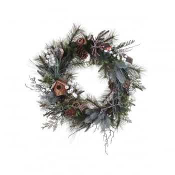 Decorative Robin Wreath