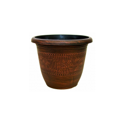 Acorn Planter Round Warm Copper