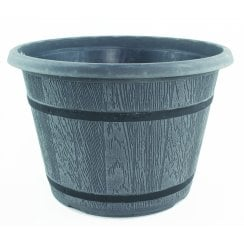 CTi Cask Planter With Black Band 9 Litre