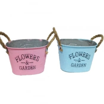 Fargro Flower & Garden Pastel Trough with Rope Handle