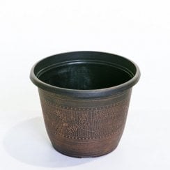 Warm Copper Acorn Round Planter