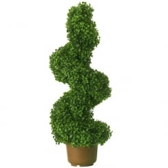 100cm Leaf Effect Topiary Spiral Swirl