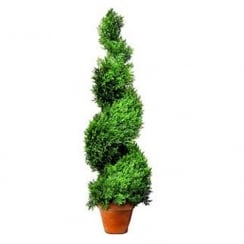 135cm Leaf Effect Topiary Spiral Swirl