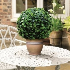 15cm Leaf Effect Topiary Ball