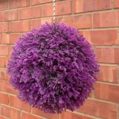 30cm Pink Heather Effect Topiary Ball