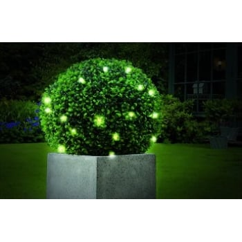 Gardman 30cm Pre-Lit Leaf Effect Topiary Ball with 20 LED Lights