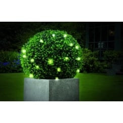 30cm Pre-Lit Leaf Effect Topiary Ball with 20 LED Lights