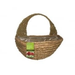 "40cm (16"") Two Tone Rope Wall Basket"