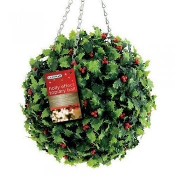 Gardman Holly Effect Topiary Ball 30cm