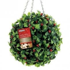 Holly Effect Topiary Ball 30cm
