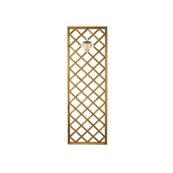 Gardman Premium Heavy Duty Diamond Framed Tan Trellis Panel 1ft x 6ft