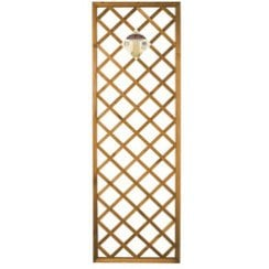 Premium Heavy Duty Diamond Framed Tan Trellis Panel