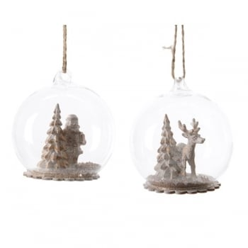 Glass Bauble with Figurines