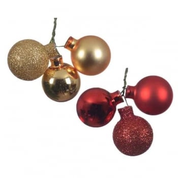 Glass Baubles on Wire