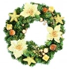 Gold Flowers Wreath