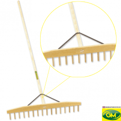 16 Teeth Wooden Rake
