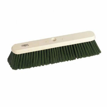 Hill Brush Company Green Stiff Platform Yard Broom
