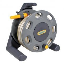 30m Freestanding Hose Reel with 25m Hose & Nozzle